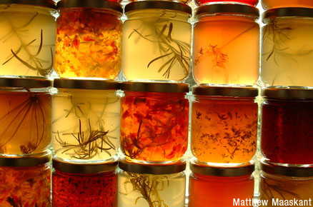 Jars of artisanal food