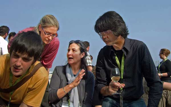 Pam Cuthbert (centre) at the Slow Food Terre Madre Canadian Delegate Picnic in Turin, Italy